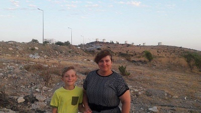 mariola z synem